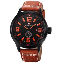2015 nuevo anuncio forma para hombre reloj de alta calidad de la correa de cuero movimiento características de cuarzo puntero relojes de pulsera China Relogio Masculino