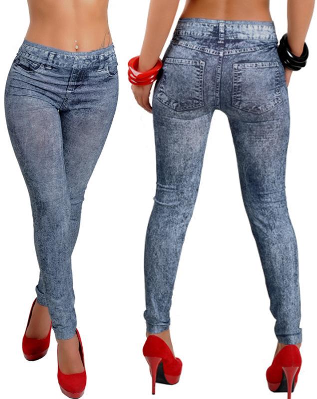 2015 Women Fashion Sexy Skinny Jeans Leggings Stretchy Soft Jeggings Slim Pencil Pants(China (Mainland))