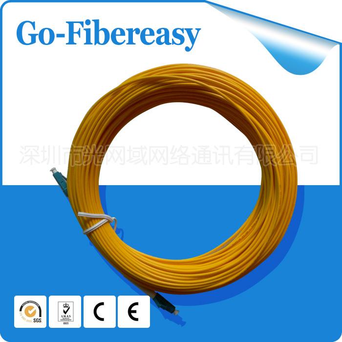 10Meters Fiber Optical Patch cord LC/UPC to LC/UPC Simplex SM 9/125 Single mode fiber optical cord, PVC cable(China (Mainland))