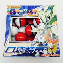 5 Set 36pcs/set Cute Pokemon Pokeball Mini Model Classic Anime Pikachu Super Master Pokemon Cards Ball Action Figures Toys5