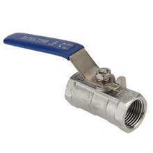 Excellent Quality 1/2 inch Threaded RP RB Ball Valve Female NPT 316 Stainless Steel Vinyl Handle For Water Oil Gas(China (Mainland))