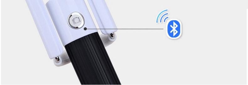 image for Bluetooth Wireless Selfie Stick Handheld Monopod Built-in Shutter Exte