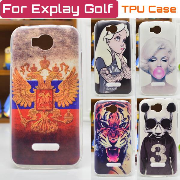 Гаджет  Explay Golf Case Cover Colored Paiting Case for Explay Golf Free Shipping None Телефоны и Телекоммуникации