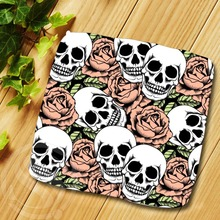 N&103 Custom Colorful skull u2 Cotton Towels Soft Face Washcloth Square Towel Handkerchief 25x25cm L819#ex103 - Deng Company Store store