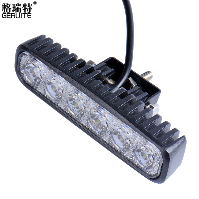 GERUITE Brand 4pcs 18W LED Work Lighting Off Road Spot Light Lamp Fog Bar 4x4 SUV Car Truck Trailer Tractor ATV UTV Vehicle(China (Mainland))
