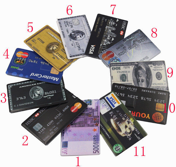 Hot sale 4G 8G 16G 32G Bank Credit Card Shape USB Flash Drive Pen Drive Memory