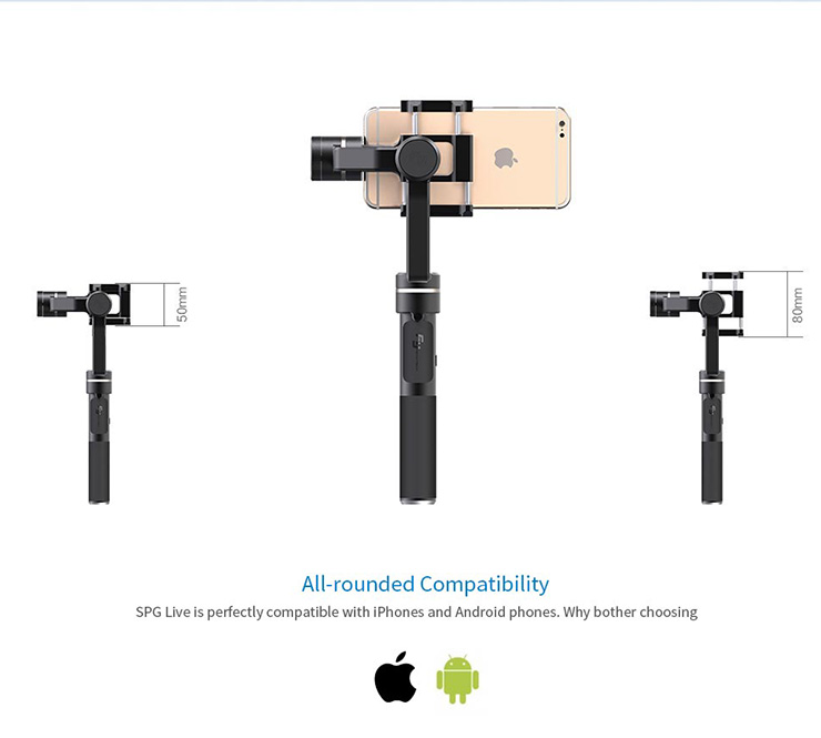 Feiyu SPG Live 3 Axis Stabilized Handheld Gimbal Stabilizer PTZ for iPhone SE 6S Plus Samsung S7 Smartphone