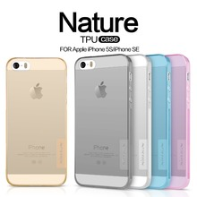 Original NILLKIN Ultra Thin Transparent Nature TPU Case For iPhone 5 5s se Clear TPU Soft Back Cover Case For iPhone 5s 5se Case(China (Mainland))
