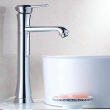 Buy Free Modern Bathroom Products Chrome Finish Hot Cold Water Stage Basin Faucet Mixer,Single Handle HJ-5655 for $49.40 in AliExpress store