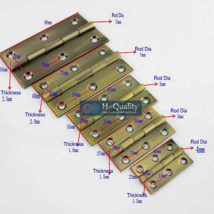 Free Bronze Screws10PCS/Lot Door Hardware Antique Bronze 1.5 Inch (38MM) Long Solid Bronze Door Hinge, Antique Hinge(China (Mainland))