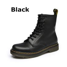 DONGNANFENG Kadın Kadın yarım çizmeler Ayakkabı Kış Bahar Hakiki Deri bağcıklı ayakkabı Punk Plus Sürme Equestr 43 44 YDL-666(China)