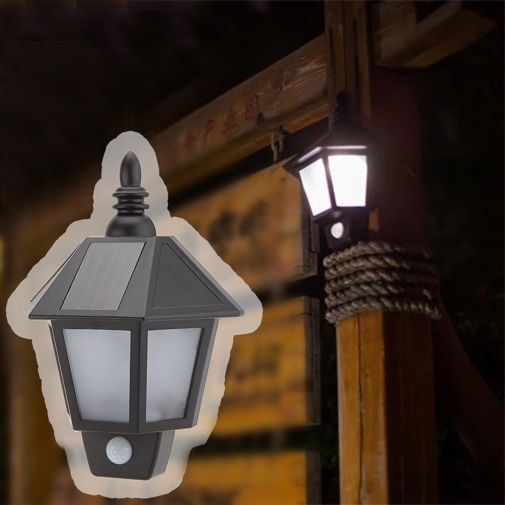 1pc Solar Power LED PIR Motion Sensor Light Outdoor Garden Wall Lamp For Waterproof Garden Lawn lamps Landscape Yard Lights(China (Mainland))