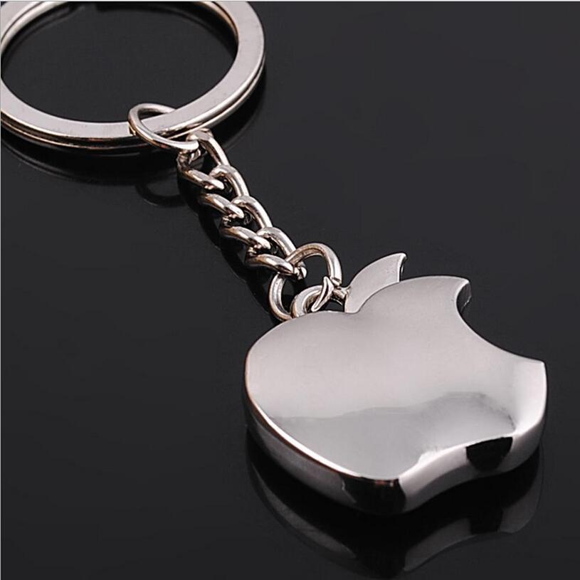2015 Apple Key Chain Classic Novelty Souvenir Metal Apple Keychain Creative Gifts Key Ring Trinket for Men Women Accept LOGO(China (Mainland))