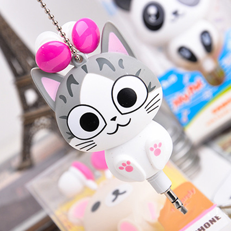 Cute Cartoon Retractable Earphone In-earphone for Mobile Phone MP3 Player(China (Mainland))