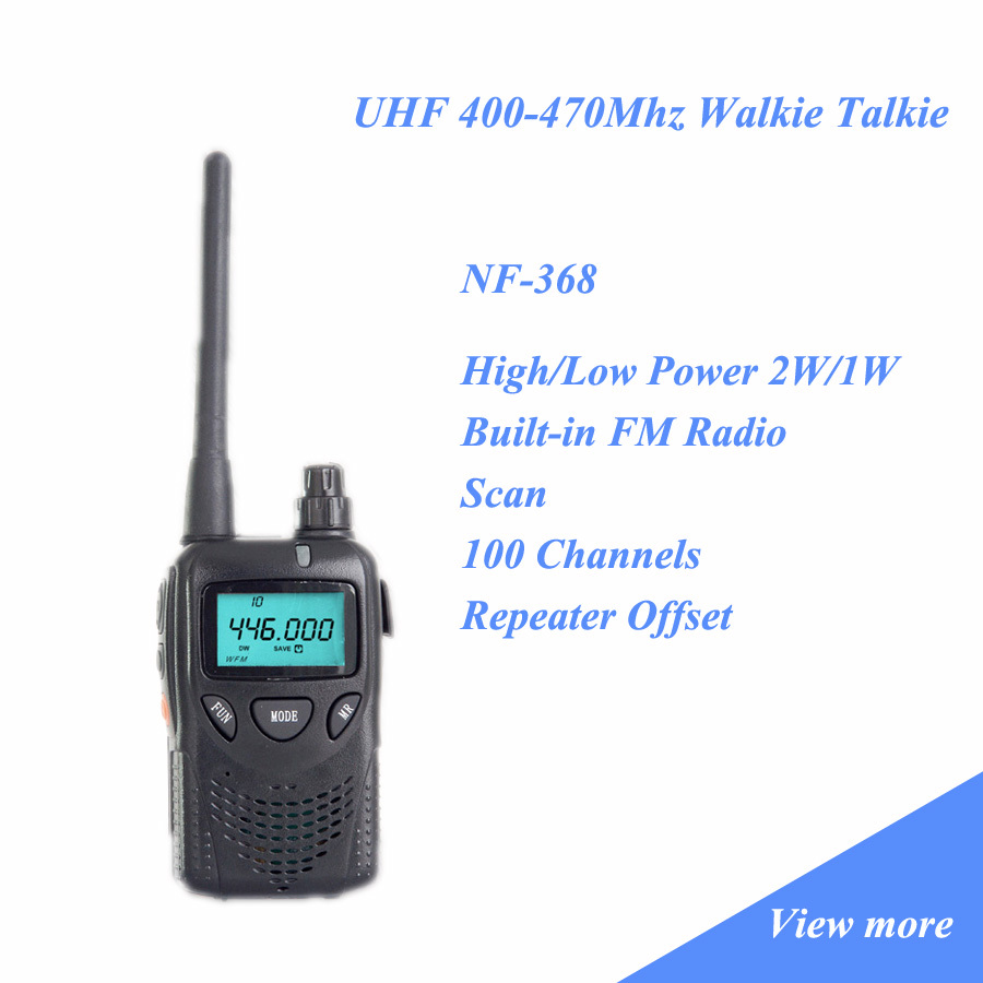 Walkie Talkie UHF 400-470Mhz Long Range 3-10 Km Repeater Function NF-368(China (Mainland))