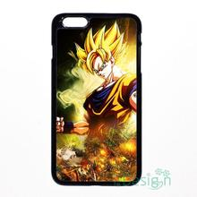 Fit for iPhone 4 4s 5 5s 5c se 6 6s 7 plus ipod touch 4/5/6 back skins cellphone case cover Dragon Ball Z Super Saiyan Son Goku