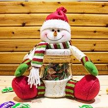 Snowman Candy Jar Christmas Toy Doll Gift Christmas Decoration Creative Santa Claus(China (Mainland))