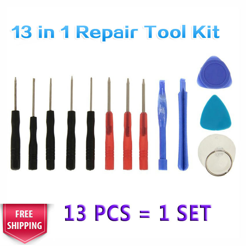 1 Set 13 In 1 Mobile Cell Phone Opening Pry Screwdrivers Repair Tool Kit Disassembly Tools For iPhone For iPad Plus For Samsung(China (Mainland))