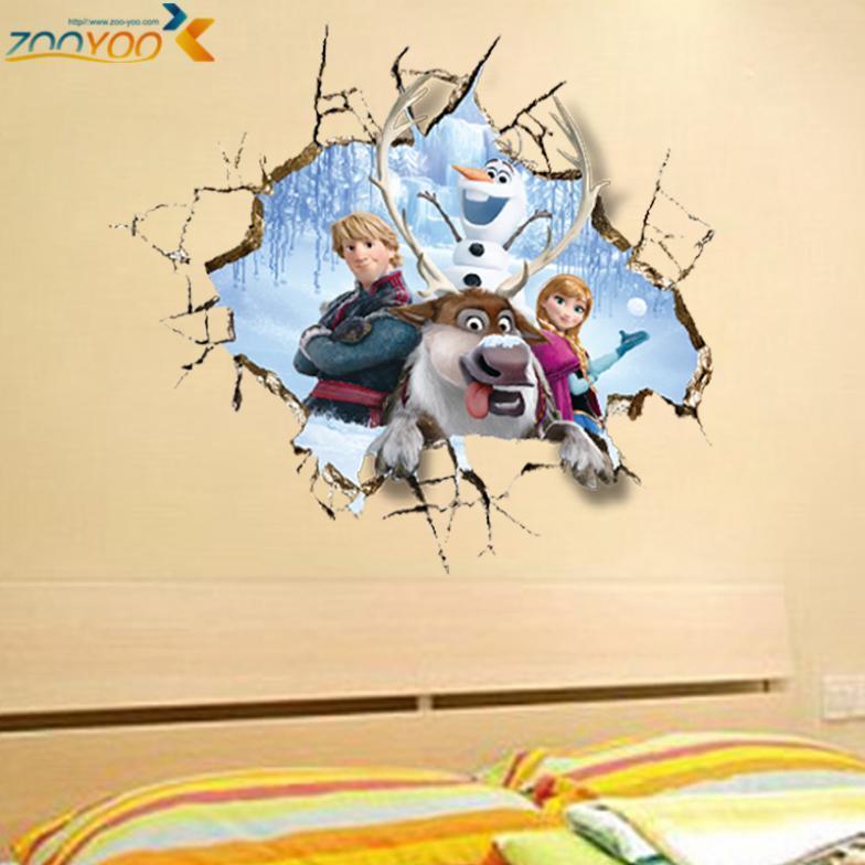 Гаджет  movie wall stickers home decor girls bedroom home decorations diy cartoon wall decals creative kids room wall art zooyoo1421 None Дом и Сад