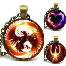 2015 Newest Song Of Ice And Fire Game Of Thrones Antique Bronze Chain Cabochon Firebird Dragon Necklace Of Juego De Tronos(China (Mainland))