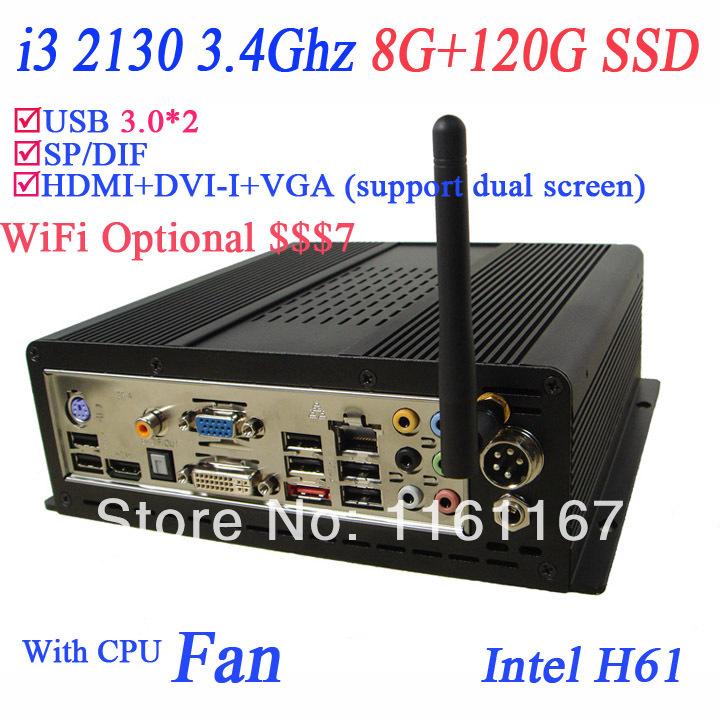 2014 High quality computer i3 media server with intel i3 2130 3.4Ghz 32nm processor 64 bit windows 7 ultimate OEM cracked(China (Mainland))
