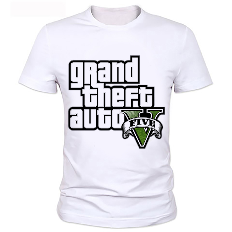 Fashion Grand Theft Auto Men T Shirts O Neck Short Sleeve Cartoon Male t-shirt Tops Casual T Shirt boy's printed t-shirt 86#  HTB1k0y5KpXXXXblXXXXq6xXFXXXC