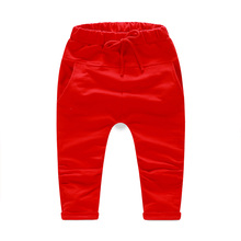 Autumn and Winter All-match Thickening Baby Boys Harem Pants Kids Casual Solid   Long Trousers For Girls A0500(China (Mainland))