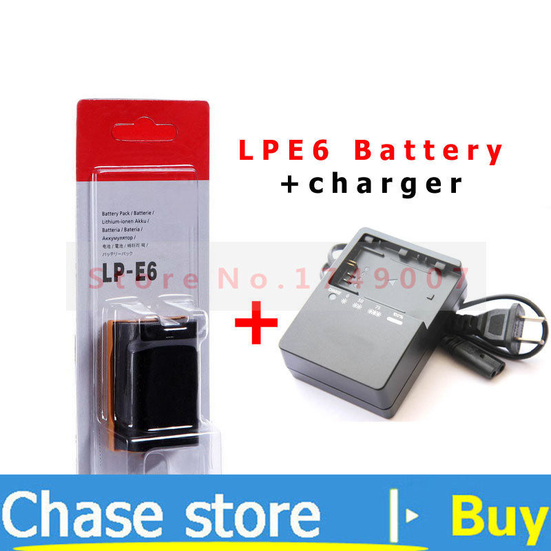 LP E6 LPE6 LP E6 Camera Battery battery charger LC E6E for Canon EOS 5D