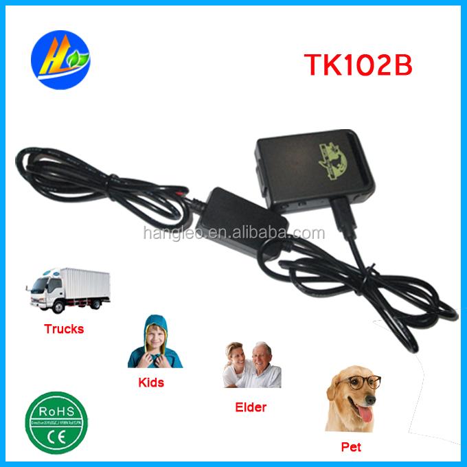 FREE SHIPPING GPS CAR TRACKER PERSONAL TRACKING DEVICE TK102B(China (Mainland))
