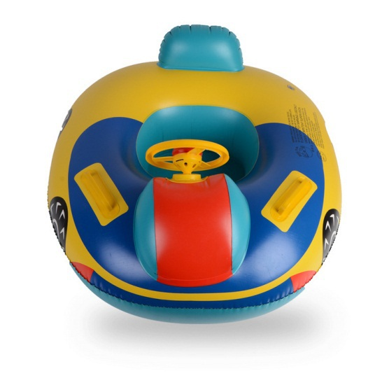 Inflatable swimming sit around Cartoon children swimming laps Baby sit boat floating toy seat for swimming(China (Mainland))