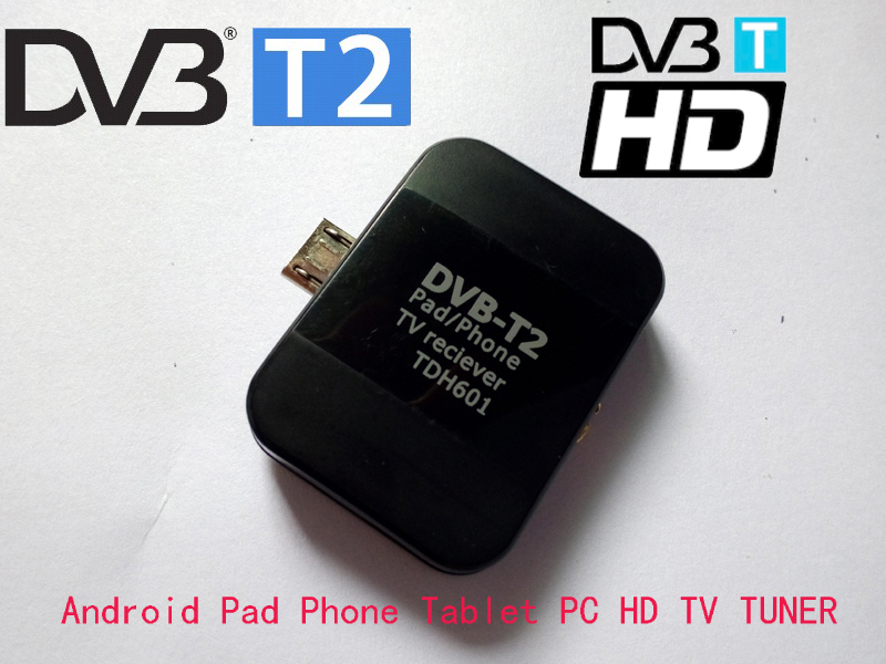 Hot sale new hd dvb t2 smart tv tuner Micro USB Digital TV Receiver Watch Live TV For Android Pad Phone Tablet PC mini dvb t2(China (Mainland))