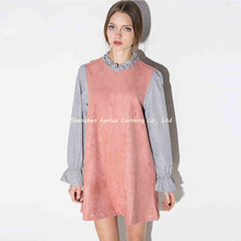 Womens Summer Contrast Long Butterfly Sleeve Loose Mini Dress Slim Thin Casual Sexy Cute Short Dresses for Wholesale