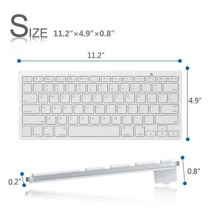 Wireless Keyboard Portable Bluetooth 3 0 Layout Keyboard for PC Laptop Tablet Smartphone iPad
