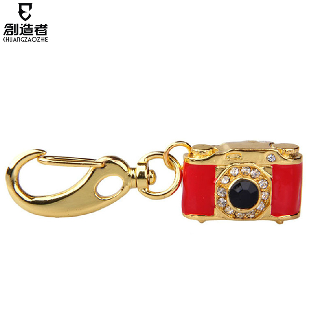 Usb flash drive 16g usb flash drive crystal small camera usb flash drive personalized keychain usb flash drive