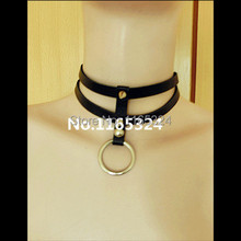 NEW hot Sexy black  Leather collar Necklace 100% handmade Rivet punk Harajuku  Leather Necklace free shipping