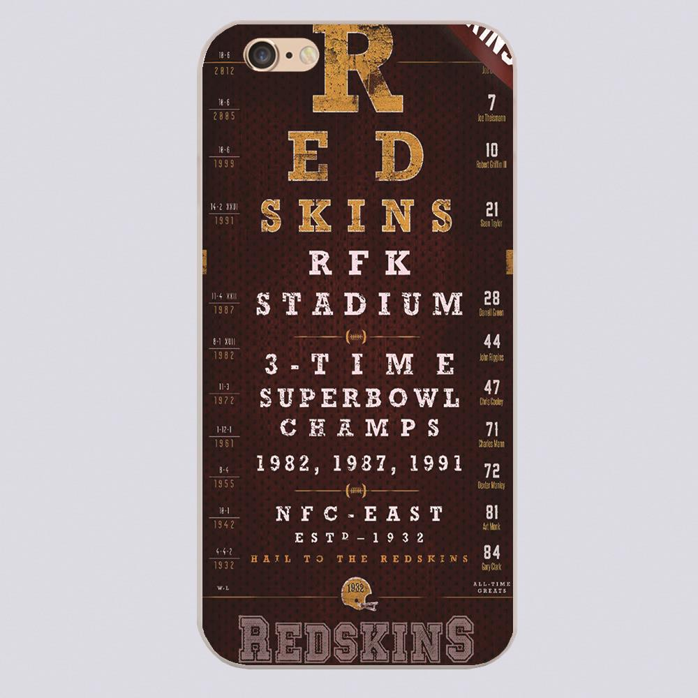 Washington Redskins Football Eye Chart Design case cover cell mobile phone cases for iphone 4 4s 5 5c 5s 6 6s 6plus hard(China (Mainland))