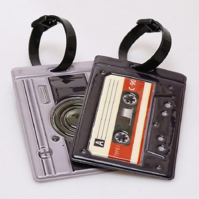 Камера радио форма 11 x 7.5 см пети багажную бирку ствол карты полосы чемодан этикетки ...