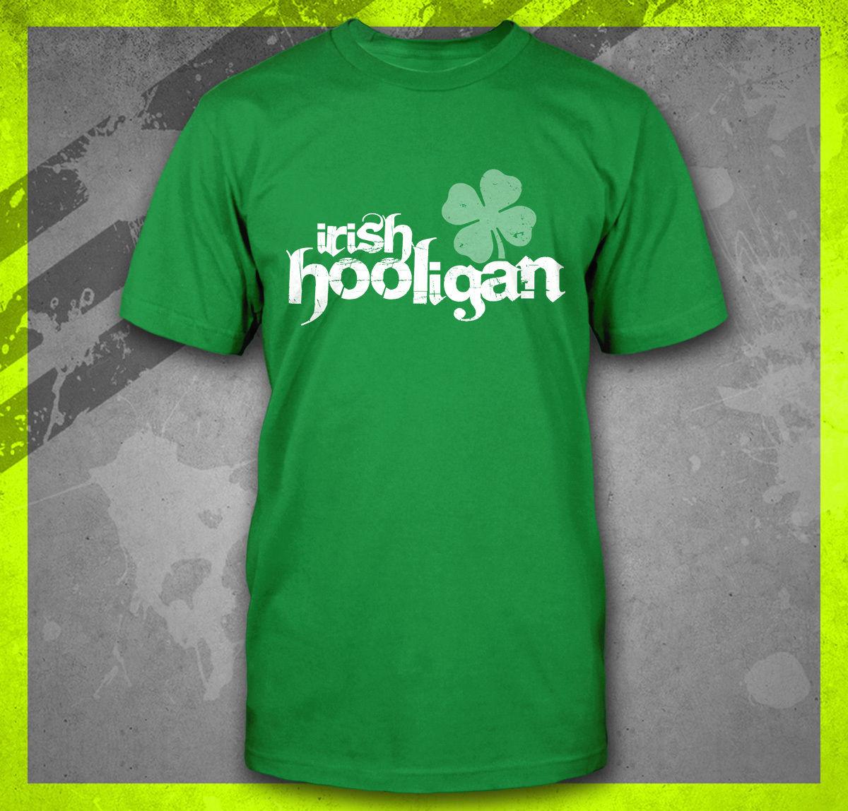 Gildan IRISH HOOLIGAN ST. PATTYS DAY PARTY soccerer FIGHT MMA BOSTON IRELAND T-SHIRT TEE(China (Mainland))