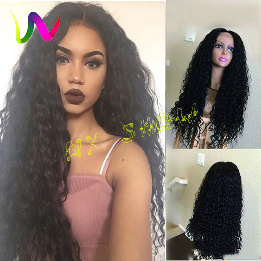 Full Density Synthetic Lace Front Wigs With Baby Hair Realistic Wigs Afro Curly Cheap Synthetic Lacefront Wigs For Black Women(China (Mainland))