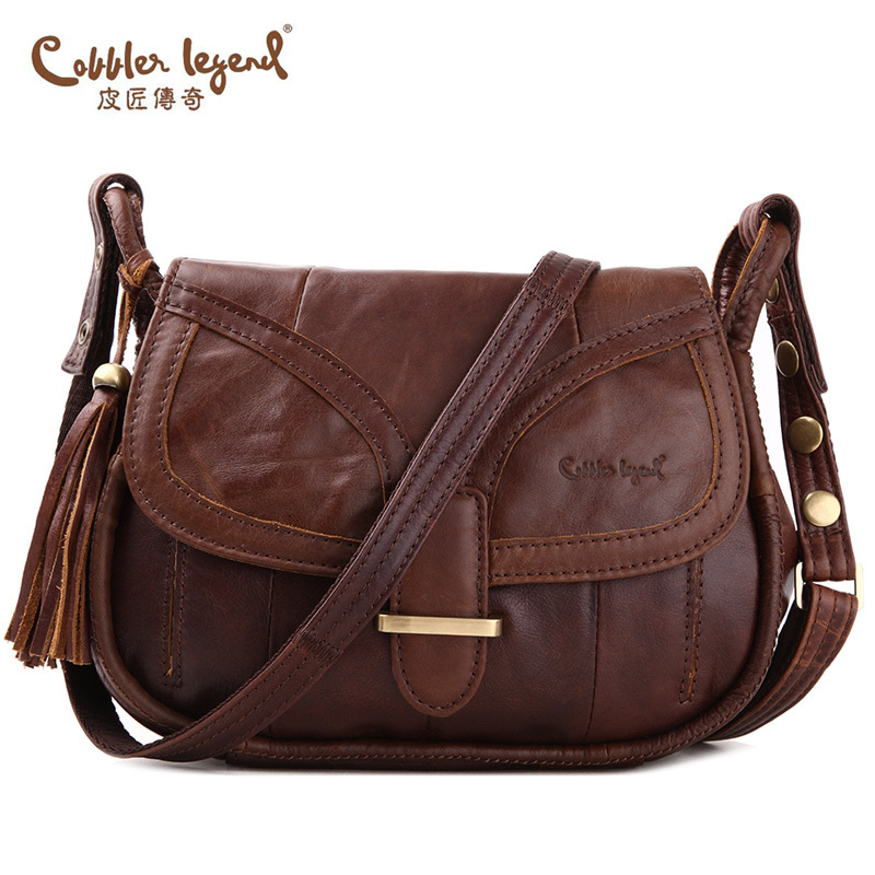 Cobbler Legend Brand Designer 2016 Women's Genuine Leather Vintage Single Shoulder Bag Women Messenger Bags Handbags For Ladies#(China (Mainland))