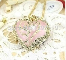usb flash drive Collectable Jewelry pink hearts USB 2.0 Flash Memory Stick Drive U Disk Festival Thumb/Car/Pen Gift stick S360(China (Mainland))