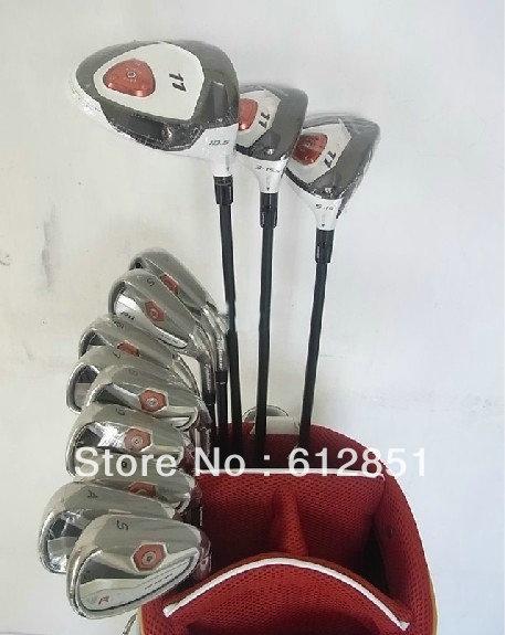 TM Golf Complete Set Driver 9/10.5loft Fairway Woods #3#5 Irons #456789PAS Steel Regular/Stiff Shaft Full Golf Clubs(China (Mainland))