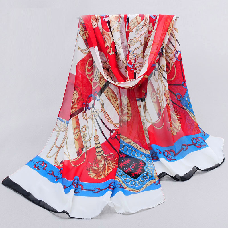 2015 Hot Sale chiffon silk scarf Adult Hijab Horse Scarf Women's Spring And Autumn Silk scarf Summer Beach Cape Wrap(China (Mainland))