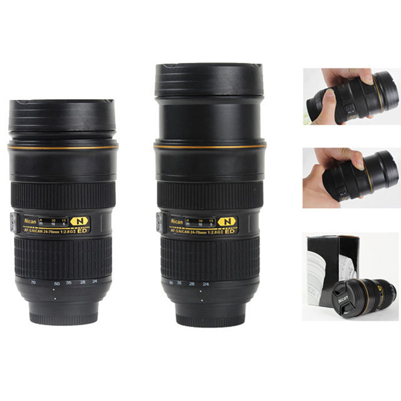 Telescopic Coffee Camera Lens Mug Cup Creative Travel Mugs Thermo Camera Cups Modeling Nikon AF-S NIKKOR 24-70mm f/2.8G ED(China (Mainland))