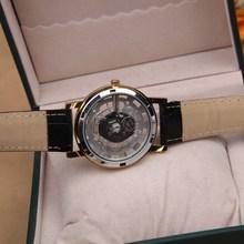 New Famous Brand Luxury Fashion Casual Stainless Steel Men Skeleton Watch Women Dress Wristwatch Leather Quartz