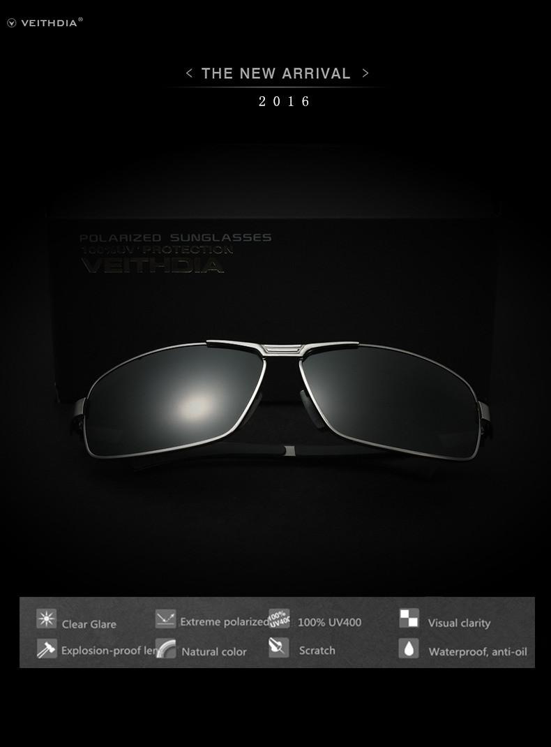 Luxury Brand Veithdia Polarized UV400 Sunglasses For Men's Driving Car Sports Fishing Male Square Full Frame Sun Glasses Driver