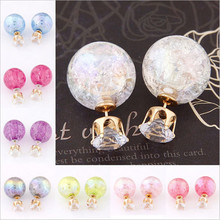 Super Deal Brand Cheap Double Pearl Earrings Colorful Statement Zircon Channel Stud Crystal Earring Wedding Jewelry Women JS04