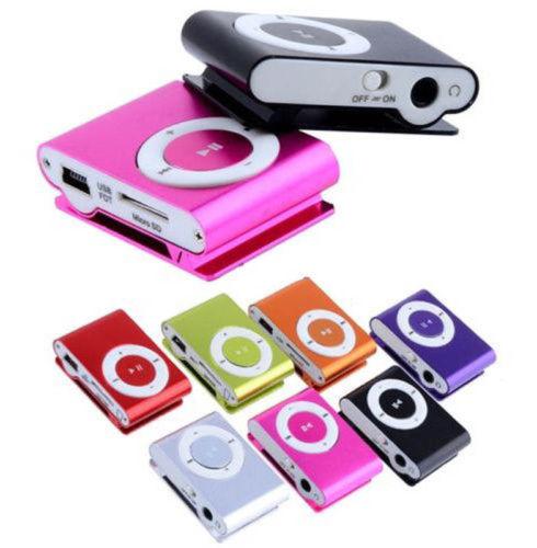 8 Colors 1 8GB Support Micro SD TF Mini Clip Metal USB MP3 Music Media Player