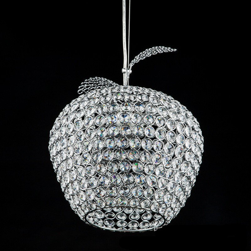 Modern Apple stainless steel led lamps crystal Pendant Lights bedroom lamps led luster light crystal restaurant Pendant lamps(China (Mainland))