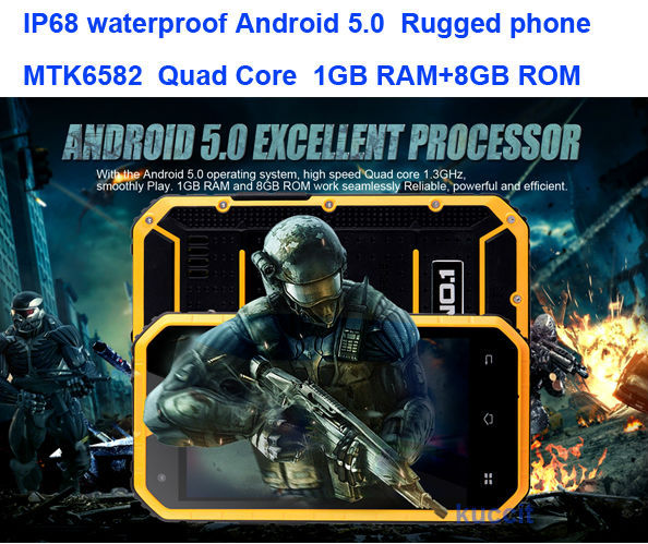 Big Gift Cheapest NO.1 M2 IP68 Rugged Android 5.0 Waterproof phone 4.5'' MTK6582 Quad Core Mobile Phone 1GB RAM GPS A9 Mann ZUG3(China (Mainland))
